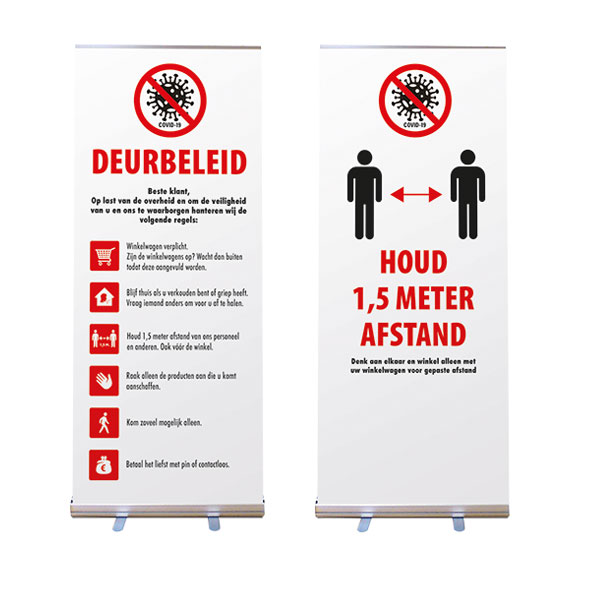 Covid-19 Roll-up Banner