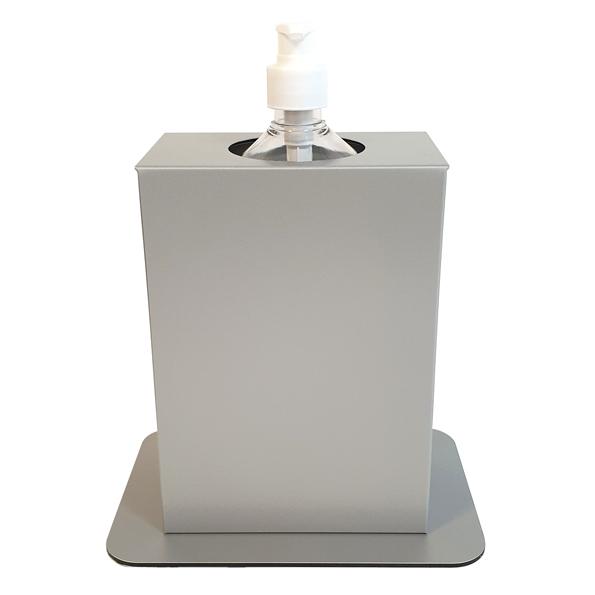 Hygiëne Desinfectie-zuil Basic Tafel Geborsteld Zilver